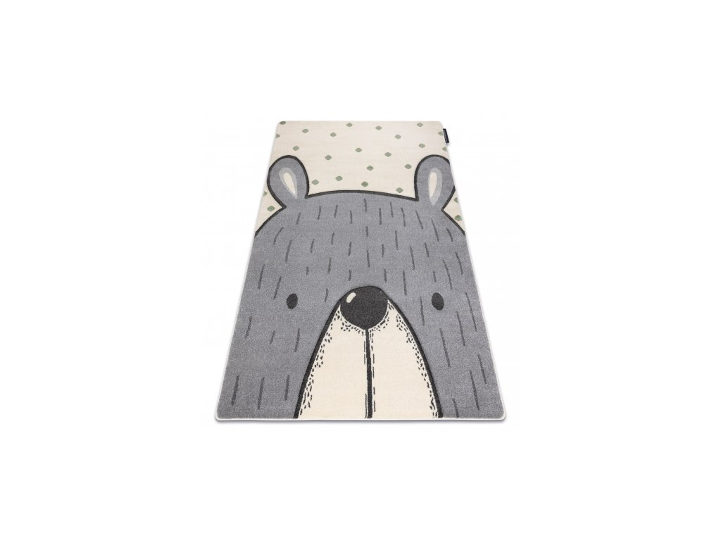 Dětský kusový koberec PETIT Medvěd krémový