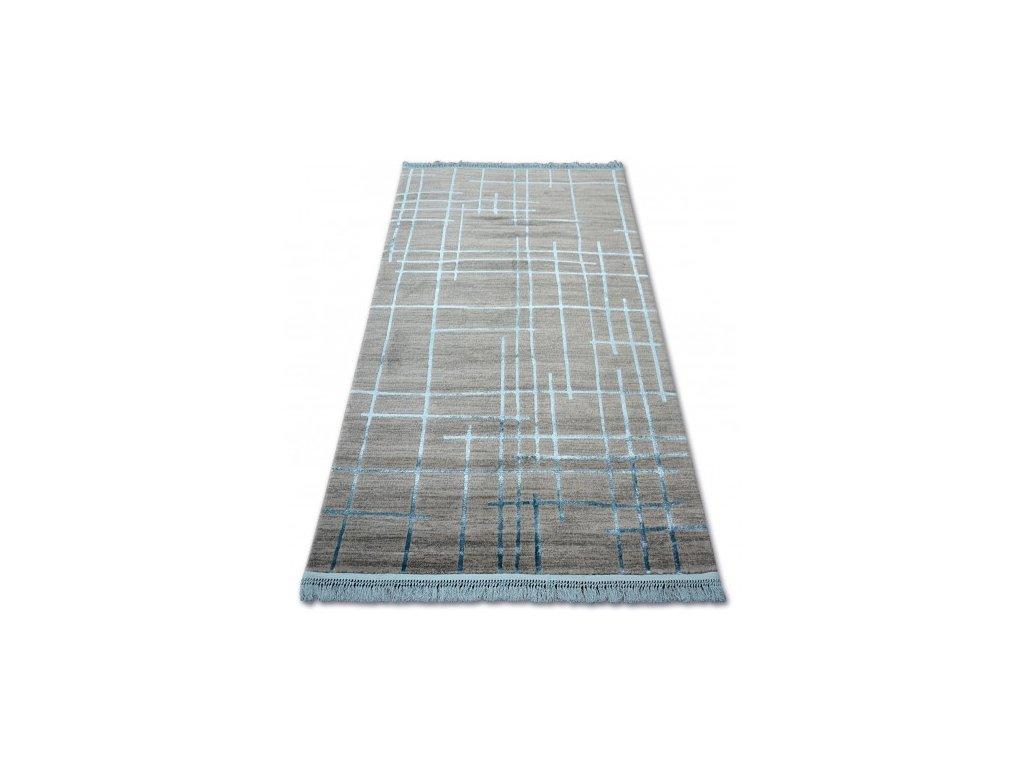 Luxusní kusový koberec MANYAS 191AA Šedý modrý