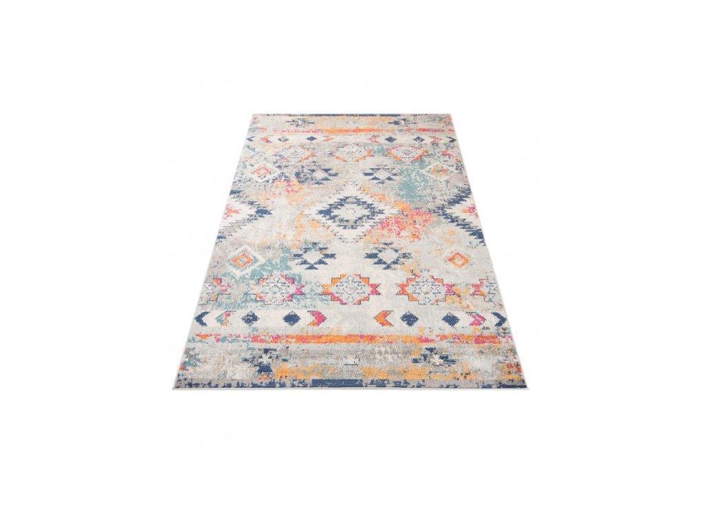 Moderní kusový koberec G003A DENVER bílý / tmavě modrý