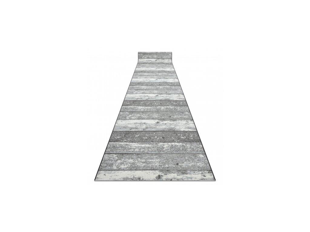 Běhoun pogumovaný DESKY Dřevo šedý
