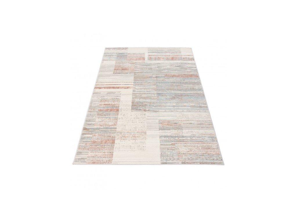 Moderní kusový koberec PORTLAND G498C bílý / červený