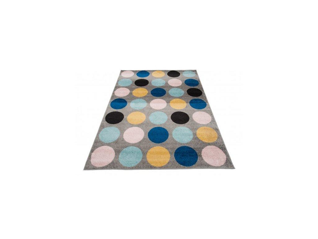 Kusový koberec LAZUR C937C puntíky vícebarevný