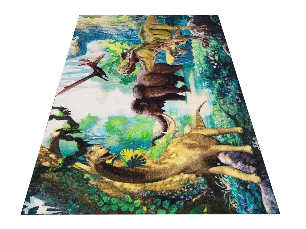 Dětský kusový koberec Sweet Kids 13 Dinosaurus Mamut vícebarevný