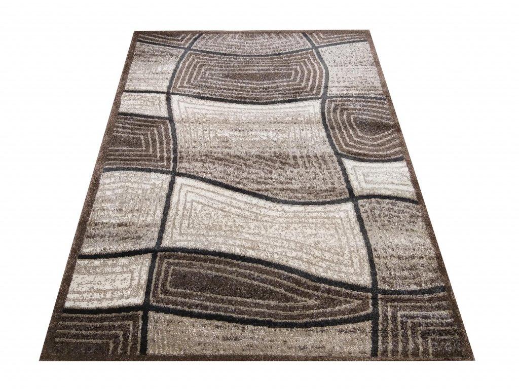Moderní kusový koberec Hermes 06 hnědý