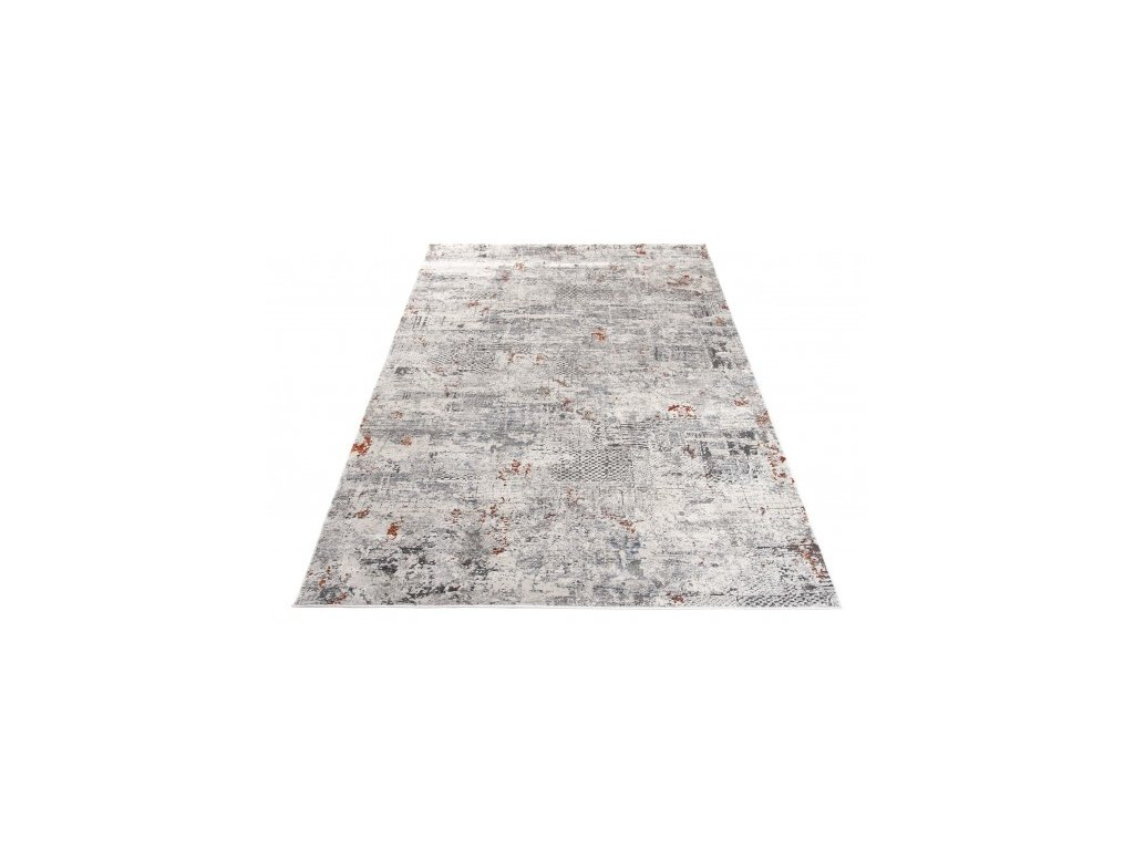 Moderní kusový koberec FEYRUZ S767B Abstraktní krémový