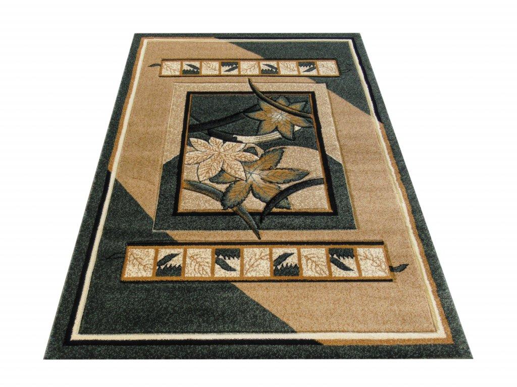 Kusový koberec Fenix 03 Květy zelený