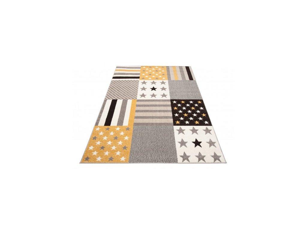Moderní kusový koberec FIESTA 36302/37226 šedý / žlutý