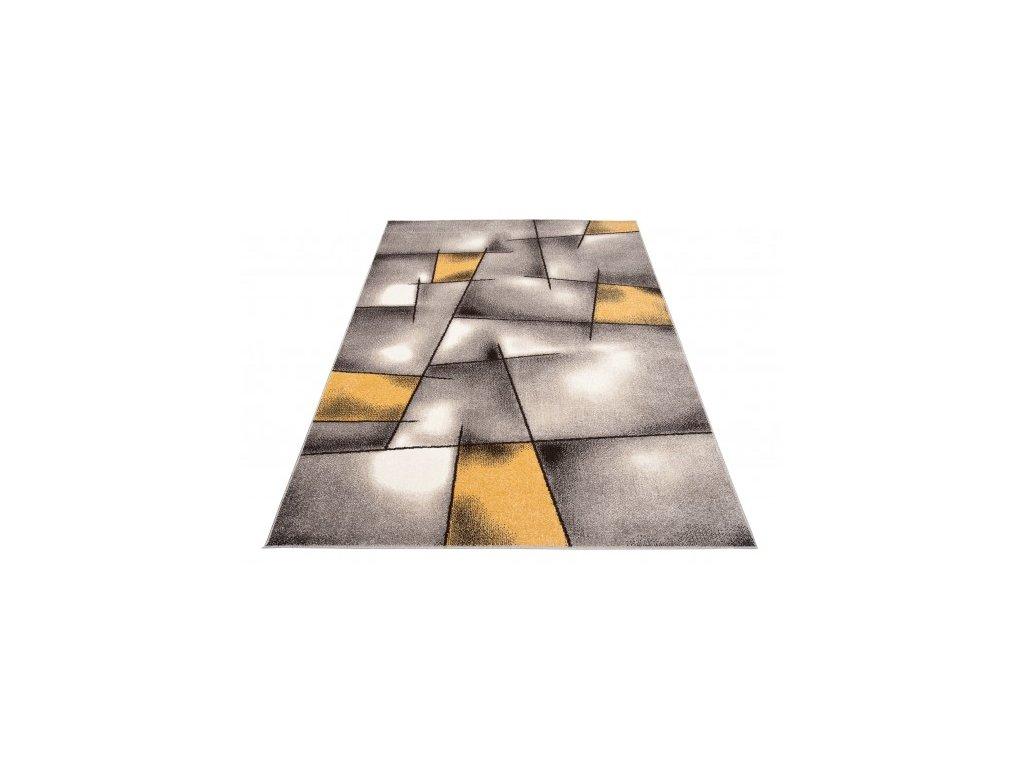 Moderní kusový koberec FIESTA 36301/37225 šedý / žlutý