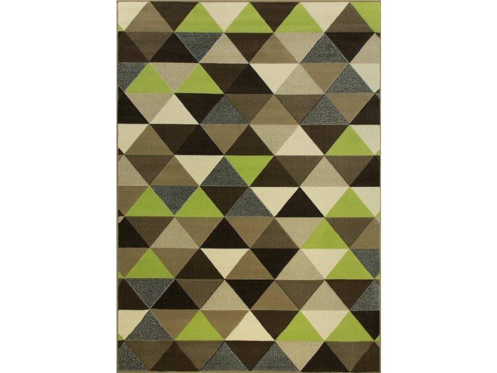 Kusový koberec LUNA 503430/67915 trojúhelníky limetkový