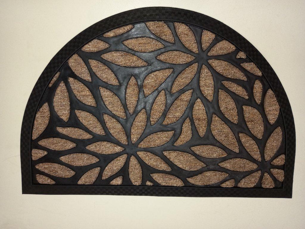 Rohožka Plants půlkulatá rozměr 40 x 60 béžová