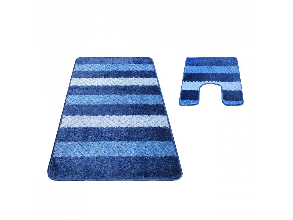 Předložka koupelnová - wc Montana 02 modrá