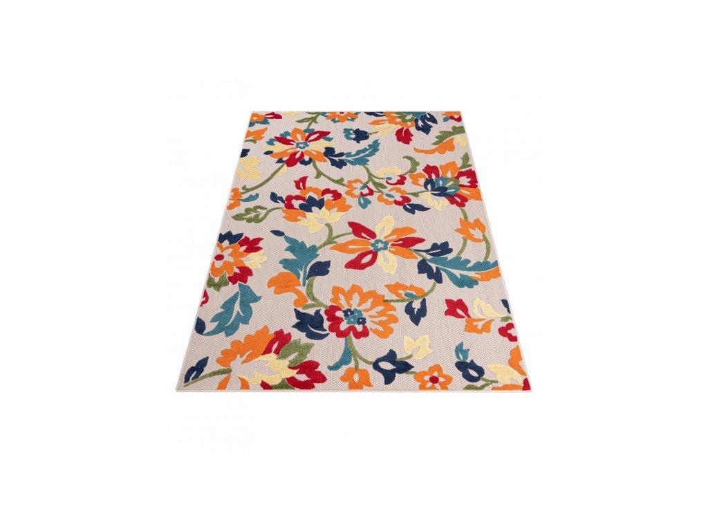 Moderní kusový koberec AVENTURA EC94A Květy vícebarevný