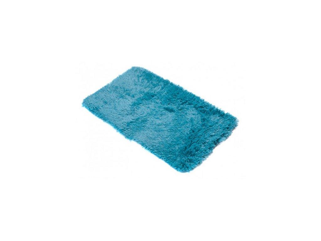 Koupelnová předložka SILK ARTS-61 modrá 50 x 80