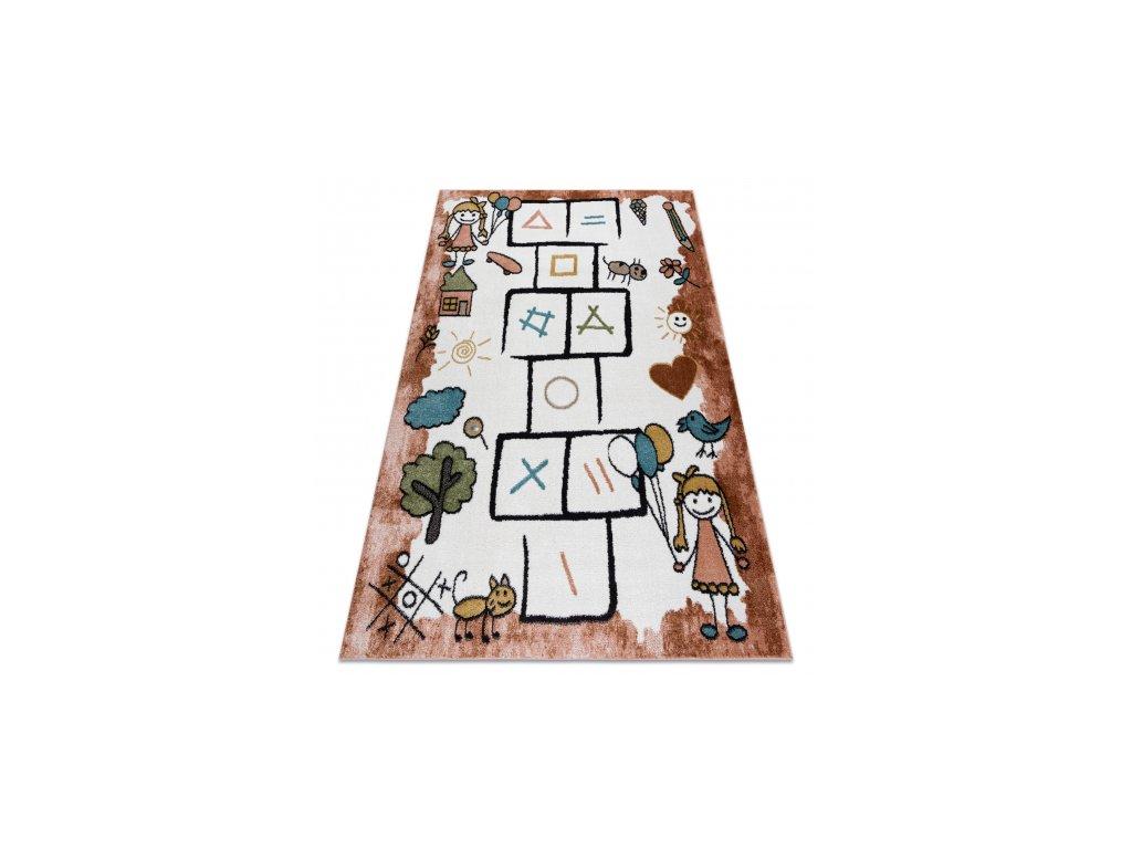 Dětský kusový koberec FUN Skákací panák růžový