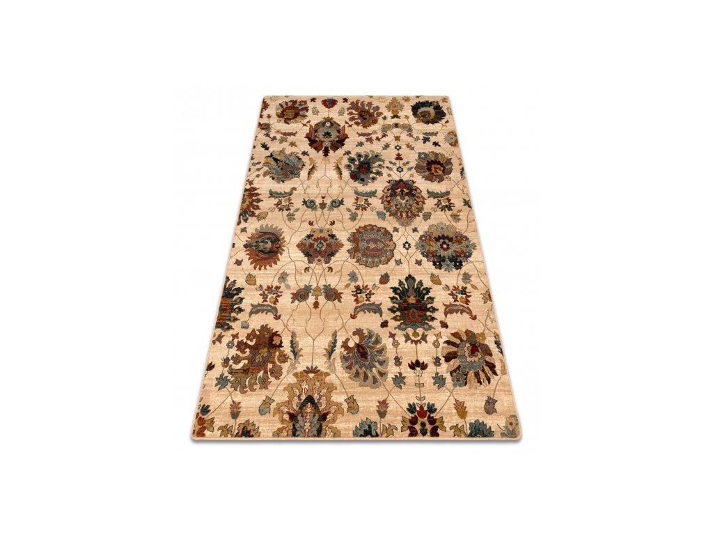 Kusový koberec vlněný Dywilan Superior Latica Krémový Béžový