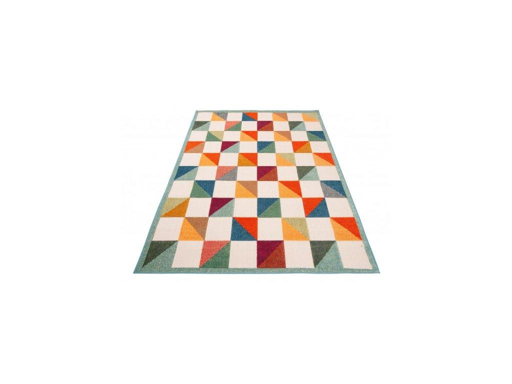 Moderní kusový koberec AVENTURA ED53A Kostky vícebarevný