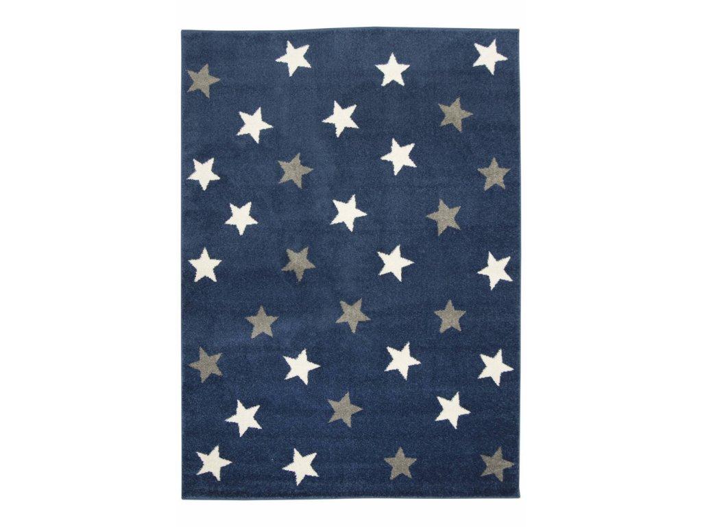 Dětský kusový koberec  Emily Kids 5767A Hvězdičky Modrý