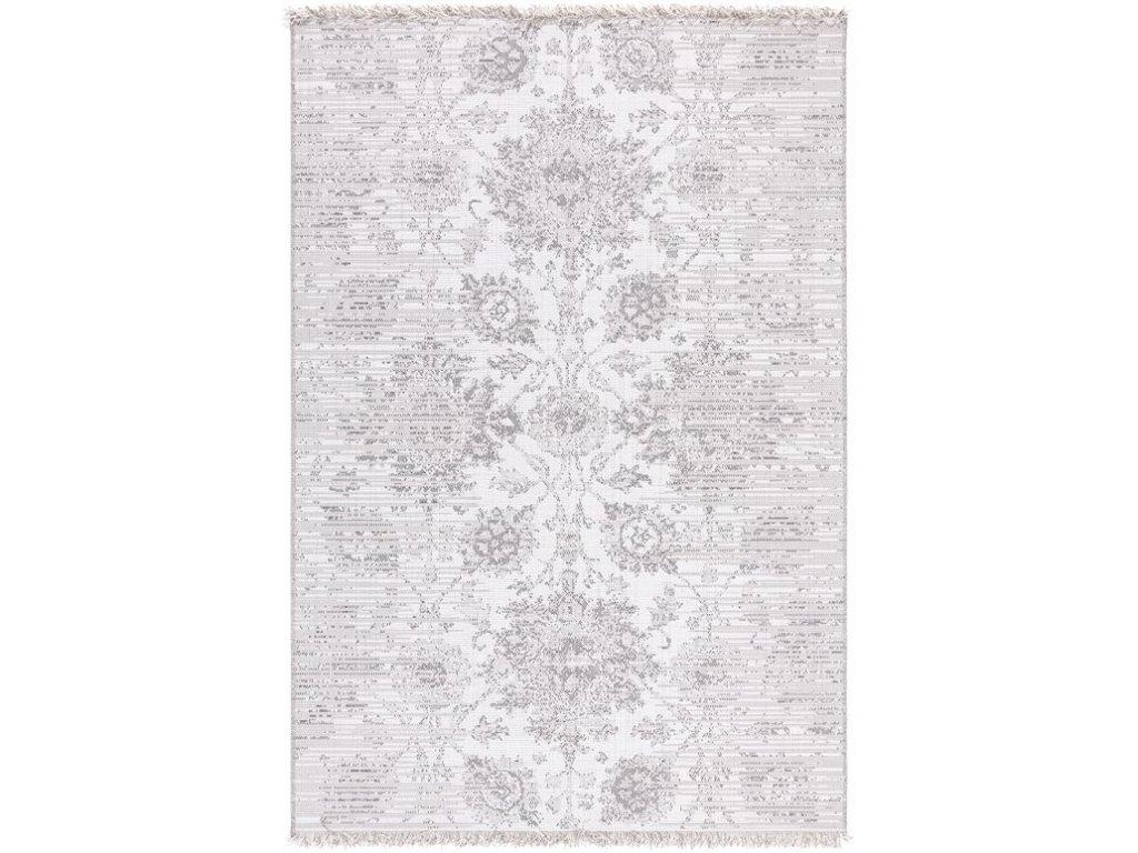 Kusový koberec Sisalový Tweed 9361 T614 Krémový šedý