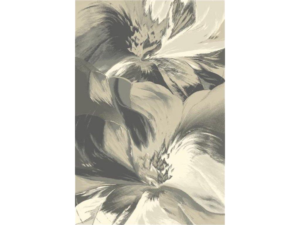 Kusový koberec vlněný Agnella Diamond Anyl Květy Světle Béžový