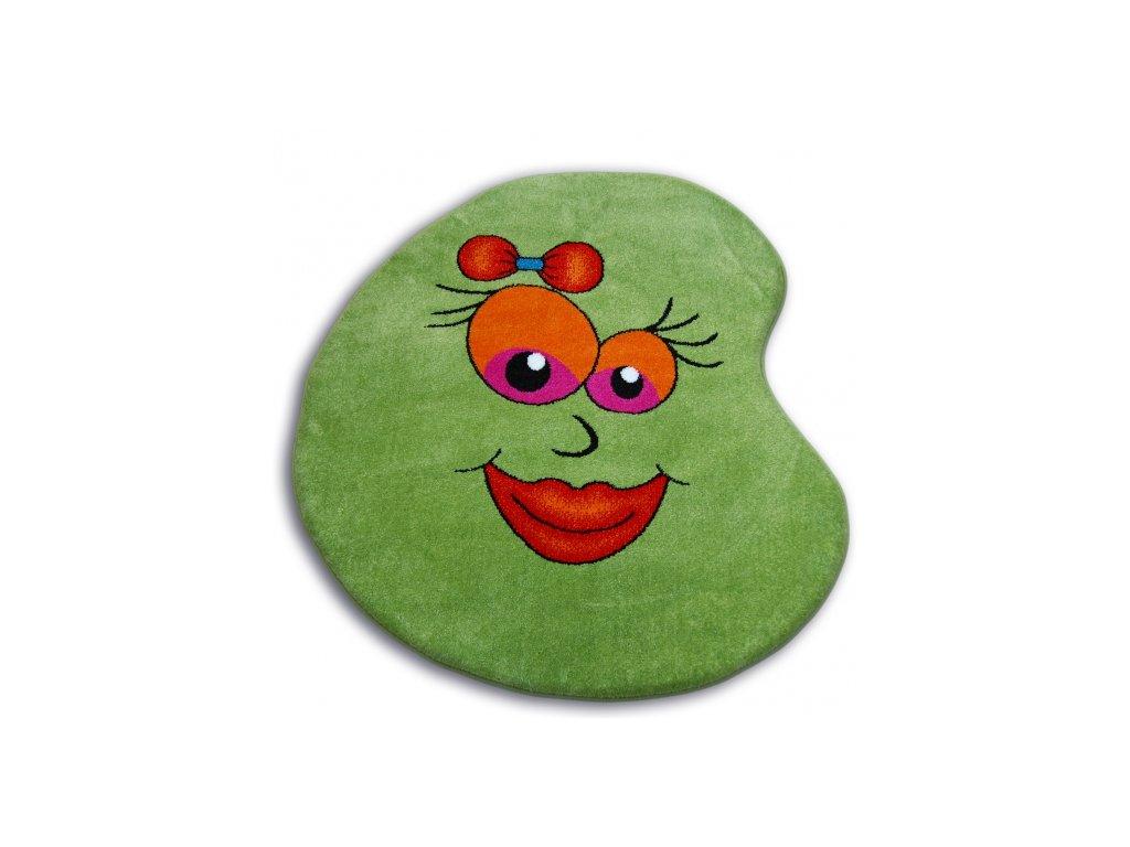 Dětský kusový koberec PAINT - 1552 green zelený
