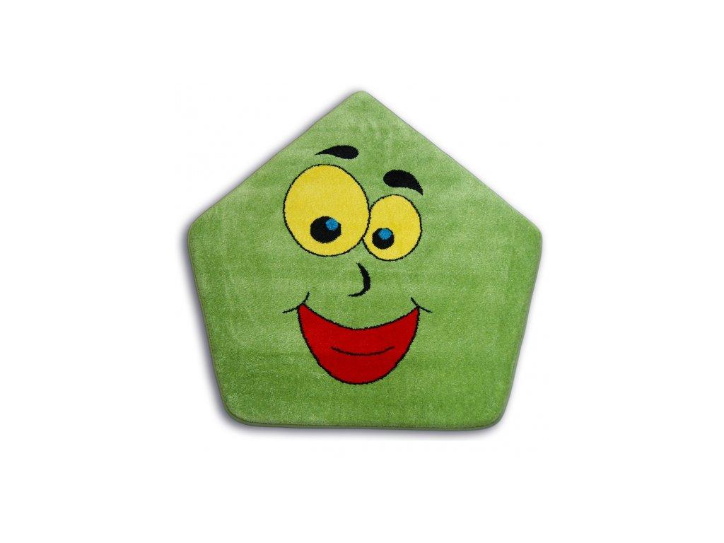 Dětský kusový koberec PAINT - 1553 green zelený