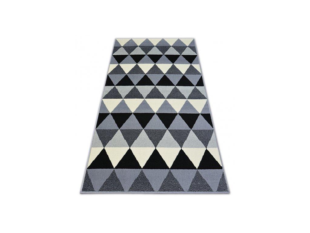 Koberec BASE TRIANGLES 3813 černý / šedý