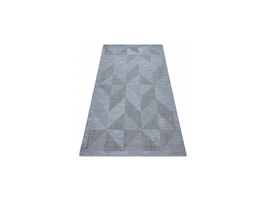 Kusový koberec Sisal  FORT 36216535 modrý / šedý