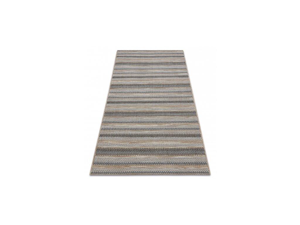 Kusový koberec Sisal  FORT 36208852 Pruhovaný béžový