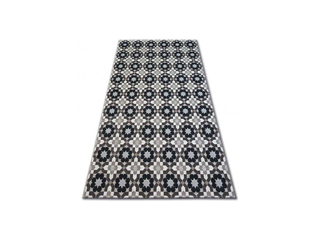 Kusový koberec LISBOA 27206/875 Květy hnědý
