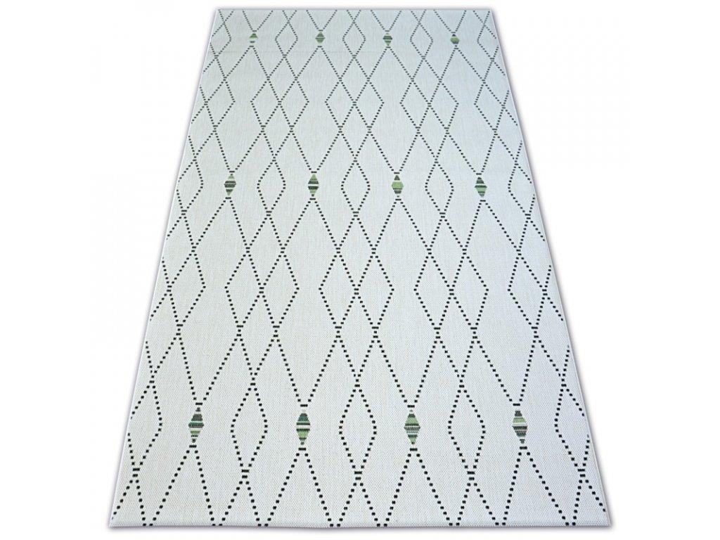 Kusový koberec Sisal COLOR 19443/062 krémový geometrický vzor