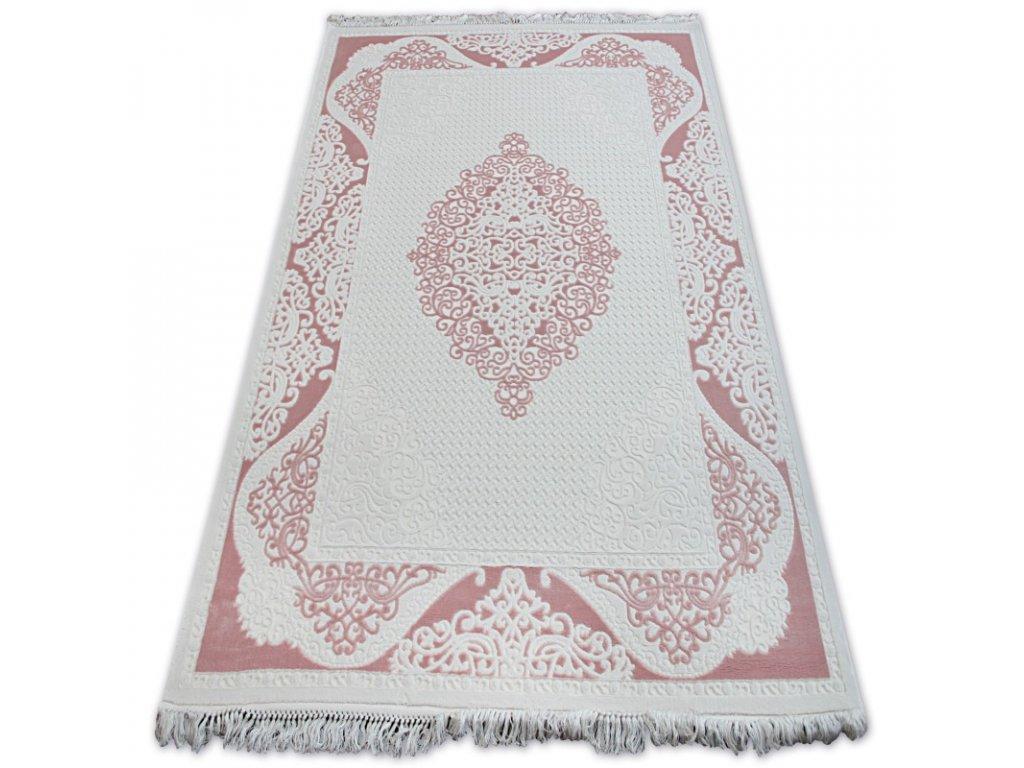 Kusový koberec akrylový MIRADA 5416 krémový červený