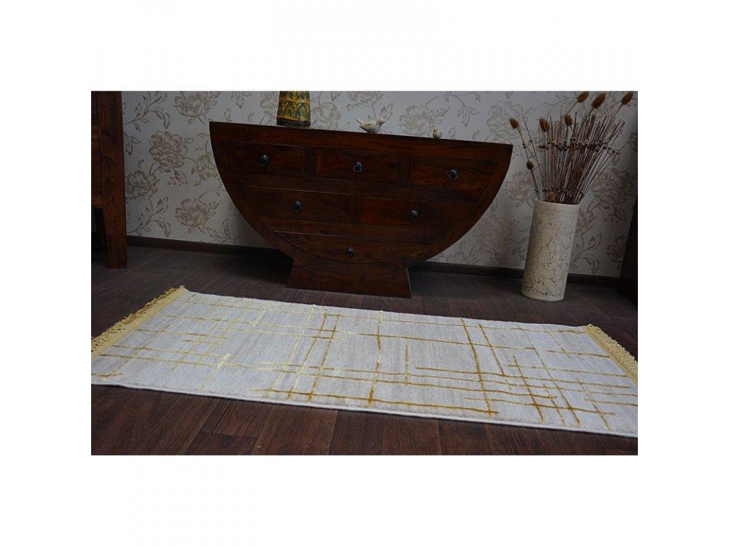 Luxusní kusový koberec MANYAS 191AA Slonová kost - zlatý