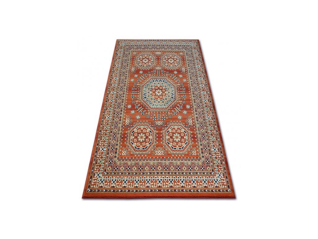 Kusový vlněný koberec VERA 3239 červený /  modrý