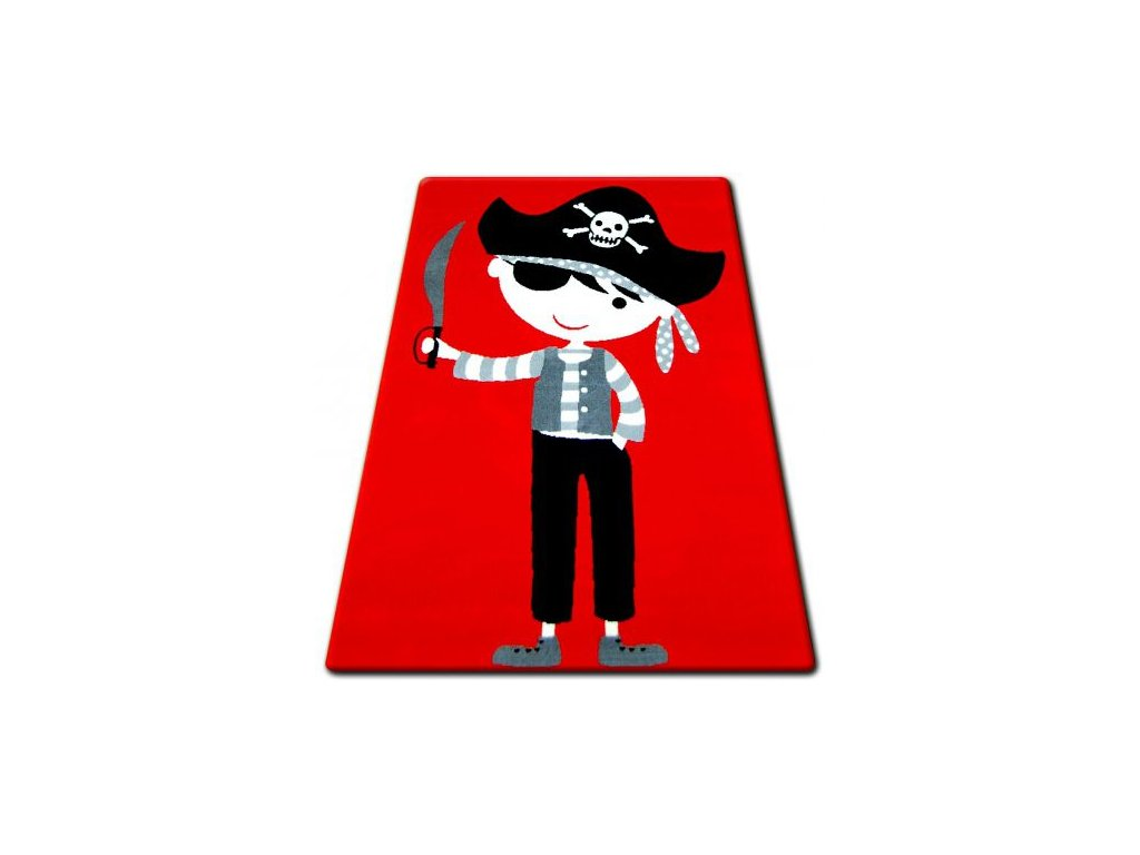 Kusový koberec BCF FLASH 33122/110 Pirát červený