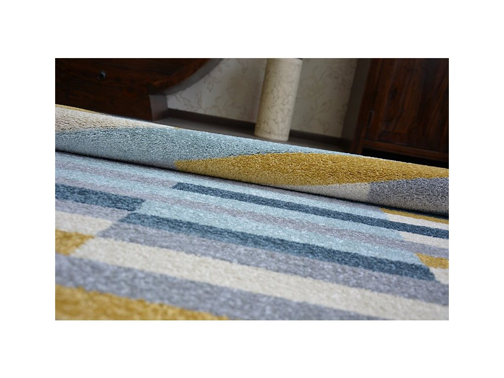 Kusový koberec NORDIC STOCKHOLM G4597 šedý / modrý