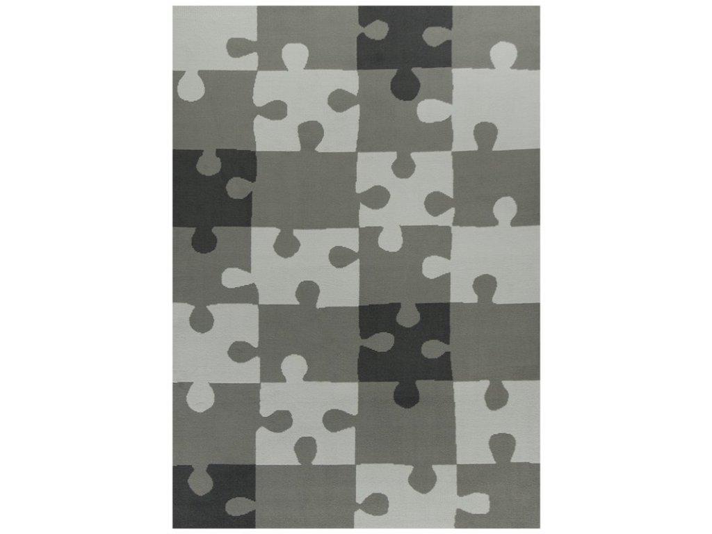 Dětský kusový koberec KIDS 533913/89911 puzzle