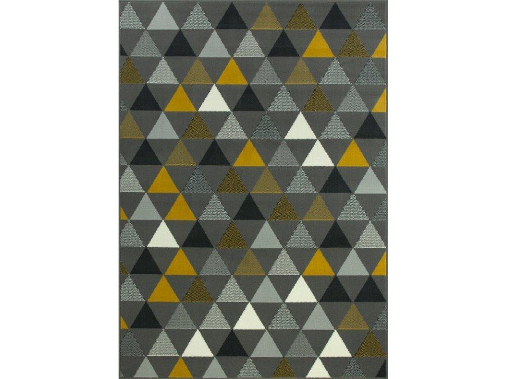 Kusový koberec LUNA 503525/89915 šedý/žlutý