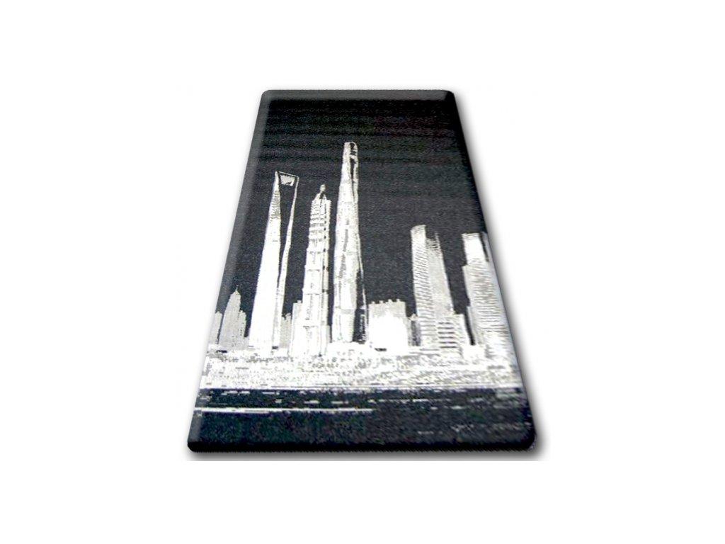 Koberec Sisal Floorlux 20240 černý / stříbrný