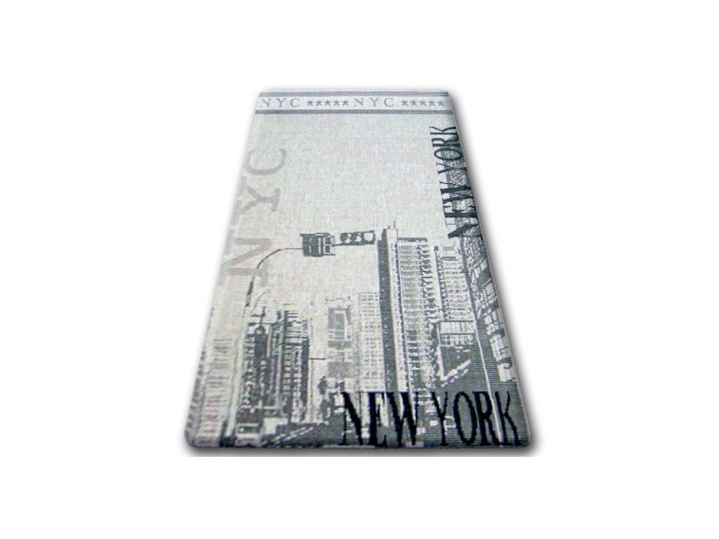 Koberec Sisal Floorlux 20237 New York stříbrný / černý