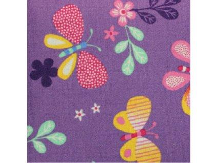 Dětský koberec Papillon 17 fialový s motýly 1