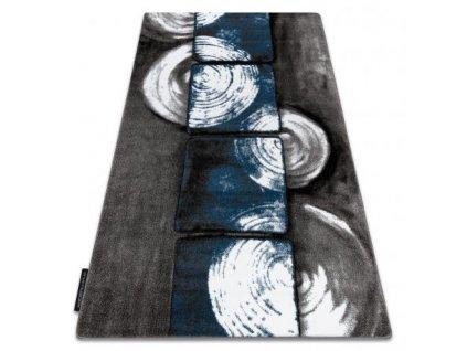 Kusový koberec INTERO 3D šedý / modrý
