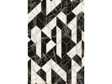 Kusový koberec vlněný Agnella Basic Asarum Černý