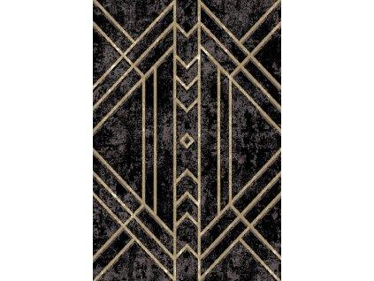 Kusový koberec vlněný Agnella Basic Gate Černý