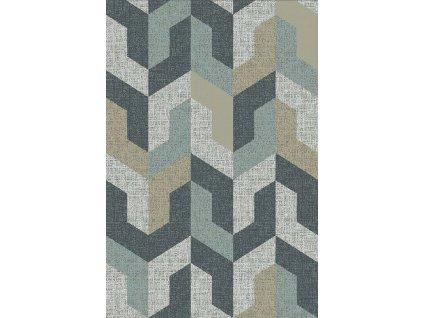 Kusový koberec vlněný Agnella Basic Gwenna Morski šedý