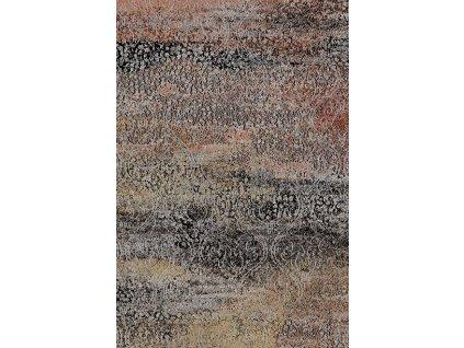 Kusový koberec vlněný Agnella Basic Leitha Černý