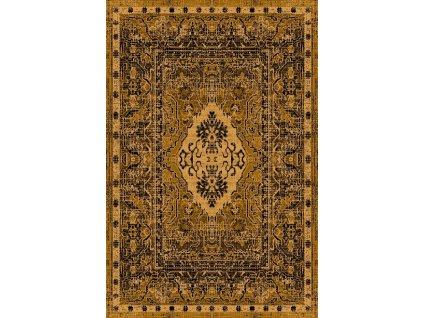 Kusový koberec vlněný Agnella Basic Roso Zlatý