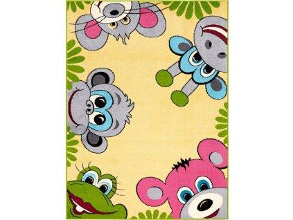 Dětský kusový koberec Agnella Funky TOP TIG medový
