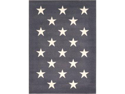 Kusový koberec Agnella Funky Top Super Hvězdy Grafitový