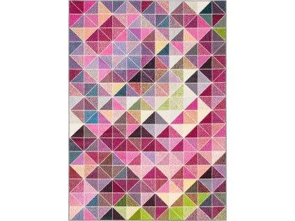 Kusový koberec Agnella Funky Top Super Tas Růžový