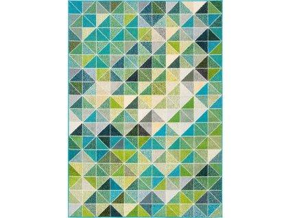 Kusový koberec Agnella Funky Top Super Tas Smaragdový